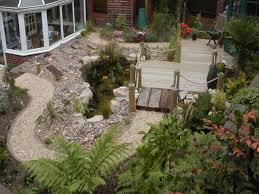 pebble gardens sloping garden design ideas landscaping ideas with