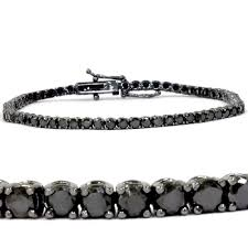 black bracelet white gold images 14k white gold 3ct tdw black diamond tennis bracelet free jpg