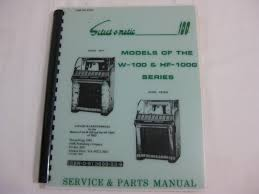 seeburg select o matic 100 service and parts manual models of the