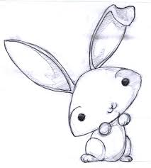 coloring endearing cute bunny drawings amazing rabbit