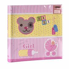 4x6 baby photo albums arpan baby girl pink slip in photo album for 200 photos 4