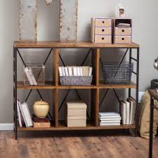 Small Bookcase On Wheels Distressed U0026 Industrial Style Bookcases Hayneedle