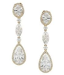 gold earrings for wedding accessories jewelry bridal jewelry earrings dillards