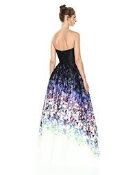 betsy and adam betsy adam women s strapless floral gown shop new york