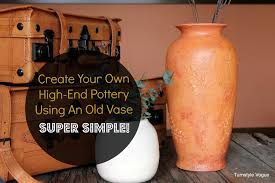 Pottery Vase Painting Ideas Create A Clay Pottery Vase From Old Vase Arts To Crafts
