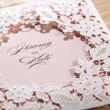 pocket invites 2016 chic flower laser cut wedding invitation square pocket