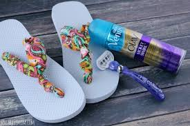Decorate Flip Flops How To Make The Easiest Ever Diy No Sew Fabric Flip Flops