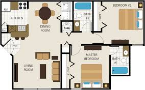 3 Bedroom Floor Plans by Floor Plans Choose From 1 2 Or 3 Bedrooms Timber Point Apartments