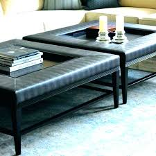 square leather coffee table leather ottoman coffee table madebytom co
