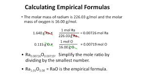 Calculating Molar Mass Worksheet Calculating Empirical Formulas Ppt Download