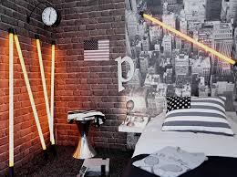 chambre ado style urbain 2 tabouret tamtam dans la chambre ado garcon avec mur de briques