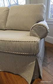 Slipcover For Sleeper Sofa Sleeper Sofa Slipcover In Ticking Stripe Custom Slipcovers