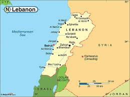 lebanon on the map lebanon political map by maps from maps world s largest