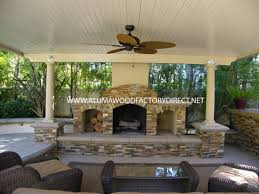 Lowes Outdoor Fireplace by Exterior Design Exciting Alumawood Patio Cover With Wall Sconce