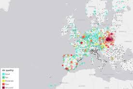 Interactive Map Of Europe Interactive Map Shows Air Quality Across Europe In Real Time
