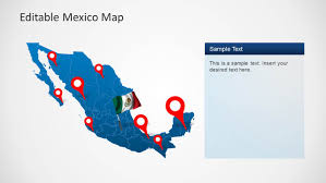 Nuevo Leon Mexico Map by Editable Mexico Map Template For Powerpoint Slidemodel