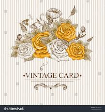 Floral Invitation Card Designs Vintage Floral Card Roses Butterflies Vector Stock Vector