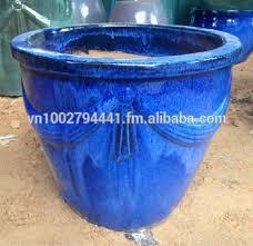 wholesale outdoor glazed ceramic pot green glazed planters