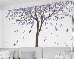 Purple Wall Decals For Nursery Willow Wall Decal Etsy