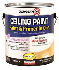 zinsser flat bright white ceiling paint and primer 1 gal at