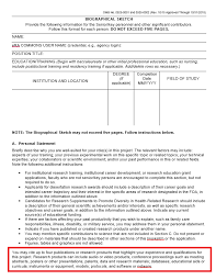 How To Format References On A Resume About Changes To The Nih Biosketch Nih Biosketch Libguides At