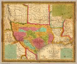 Map Of The State Of Texas A New Map Of Texas With The Contiguous American U0026 Mexican States