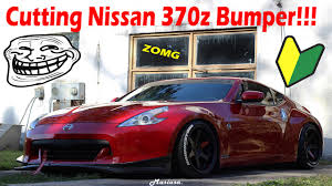 nissan 350z back bumper cutting nissan 370z rear bumper widebody project youtube
