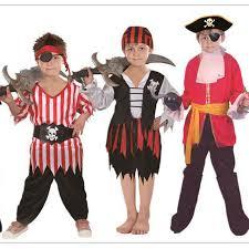 free shipping halloween cosplay children kid boy pirate costume