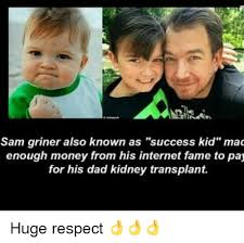 Mad Kid Meme - sam griner also known as success kid mad enough money from his