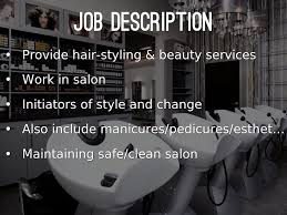 Job Description Of Cosmetologist Career Research Project By Kaylan Nichols