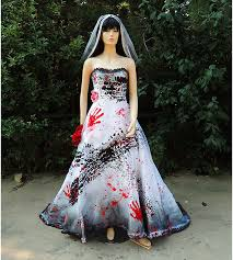 Halloween Wedding Costume Ideas Roadkill Blackened Burned Bloody Zombie Bride Costume