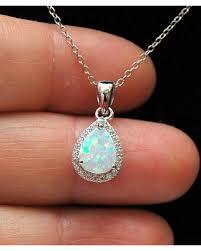 opal pendant necklace australia images New savings on teardrop bridal necklace australian halo white opal