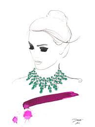 items similar to watercolor fashion illustration dreamy necklace