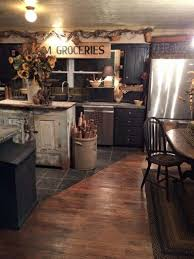 Primitive Kitchen Cabinets Awesome Endearing Primitive Kitchen Decor And Country Home Black