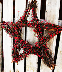 4th of july decor summer home decor holiday decor red berry star