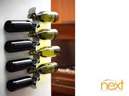 wall wine racks wine enthusiast urban wall wine rack display