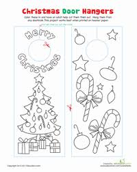 Christmas Decoration For Kindergarten Class by Christmas Door Decorations Worksheet Education Com
