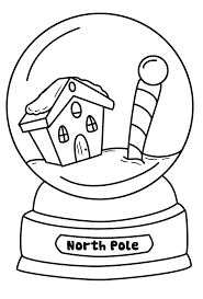 snow globe coloring pages getcoloringpages com
