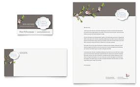wedding planner business card and letterhead template design by