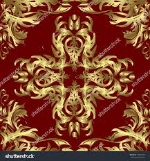 digital style ornament fancy artwork golden stock vector 178626680