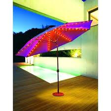 Patio Umbrella Lighting Ideas Solar Patio String Umbrella Lights For Outdoor Umbrella