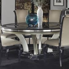 Michael Amini Dining Room Furniture Michael Amini Hollywood Swank Round Dinner Table W Pedestal Base