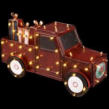 led lighted antique truck yard decor christmas gift boxes 28 5