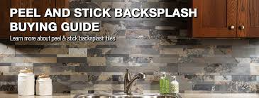stick on backsplash tiles for kitchen peel stick backsplash buying guide at menards