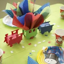 Party Centerpieces Train Themed Birthday Party Centerpiece With Personalized