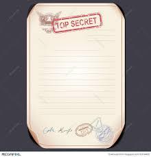 top secret document on table vector template illustration
