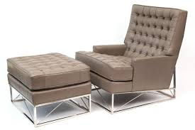 amazing of modern lounge chair and ottoman tufted leather lounge