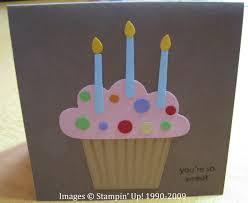 birthday cupcake card stamping with karen
