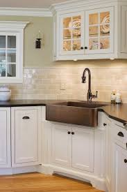kitchen off white subway tile white cabinets minimalist kitchen