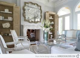 beautiful livingrooms decorating with mirrored furniture in 15 beautiful living rooms